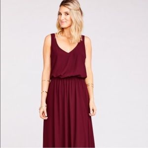 Show me your mumu bridesmaid Kendall dress merlot